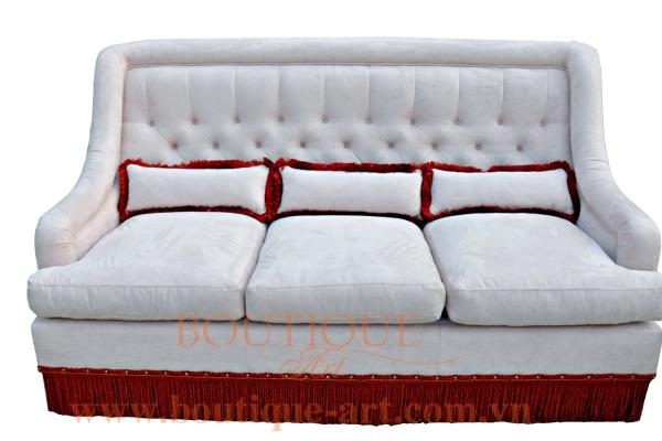Sofa 3 chỗ rút nút tay vát - B.A 1681