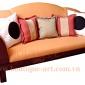 Sofa tay viền gỗ - B.A 0903